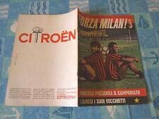 FORZA MILAN!=N°9 1983 ANNO XV=GERETS=BARESI=SCHNELLINGER=POSTER MILAN 83/84