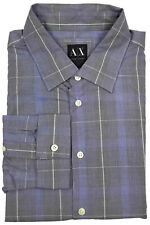 Armani Exchange Slim Fit Shirt XL Mens Long Sleeve Button Down Plaid Men Size Sz