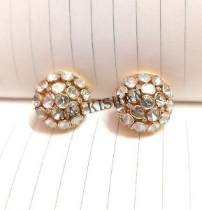 Polki Diamond Pave 925 Sterling Silver Earring Gorgeous Women Handmade Jewelry