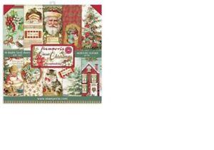 "Stamperia 'CLASSIC CHRISTMAS' 8x8"" Paper Pack 10 Sheets Xmas/Santa SBBS17"