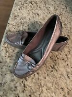 Naturalizer Women's Size 7 1/2 Pewter Mocassin Loafers Flat