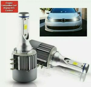 KIT LED H15 CANBUS LUCI DIURNE DRL + ABBAGLIANTI 6000K VW GOLF 6 VII 7 VII