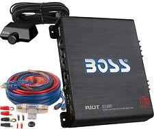 New listing R1100M Boss Riot Car Amplifier - 1100 Watt - 1 Channel / Monoblock w-Install Kit