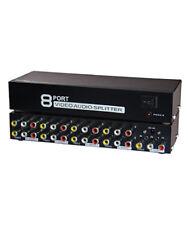 8-Way 3-RCA Audio Video AV Signal Splitter Converter Box