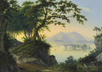 """perfect 36x24 oil painting handpainted on canvas""""beautiful island"""" NO8546"""