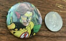 """KID FLASH Teen Titans Pin Pinback Button 1.5"""" Made from Actual Comic Book DC"""