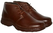 MENS BROWN LACE UP LIGHTWEIGHT SMART/CASUAL DRESS BOOT SIZE 8