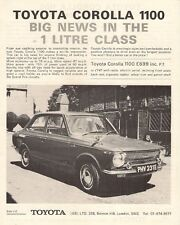 Toyota Corolla 1100 KE10 1967-68 UK Market Launch Leaflet Sales Brochure