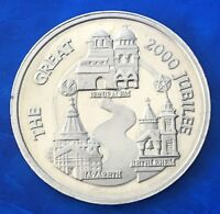 """Israel Official Medal """"Great 2000 Jubilee - The Holy Land"""" 1999 Coin 38mm UNC"""