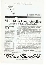 Vintage, Original 1917 - Wilmo Manifold Advertisement - Automobile, Gasoline