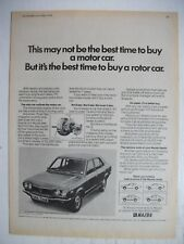 1974 MAZDA RX-3 BEST TIME TO BUY A ROTOR CAR BRITISH MAGAZINE ADVERTISEMENT