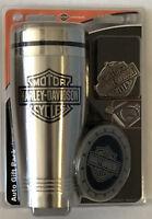 Harley-Davidson Bar & Shield Travel Pax Thermal Mug, Key Chain, Coaster set NEW