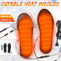 Electric Heated Shoe Insoles Warm Sock Feet Heater USB Foot Winter Warmer Pads