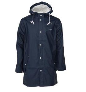 Tretorn Unisex Wings Waterproof Hooded Rainjacket Coat Lightweight Top Navy