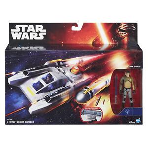 """Star Wars Rebels Y-WING SCOUT BOMBER & 3.75"""" KANAN JARRUS Figure by Hasbro"""