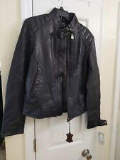 New G-Star Raw Biker Leather jacket Mazarine blue Small LATEST STYLE