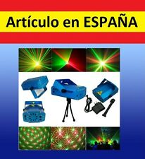 MULTI PROYECTOR luces LASER colores verde rojo automatico rave fiesta discoteca