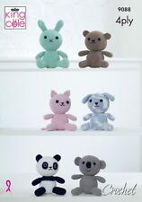 KINGCOLE 9088 Amigurumi Animal Toys - CROCHET PATTERN-not the finished toys