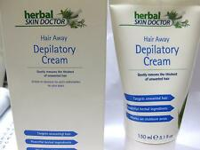 2 x SKIN DOCTOR HERBAL HAIR AWAY DEPILATORY CREAM 150ML REMOVES THICKNESS REMOVE