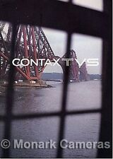 Contax TVS 35mm Camera Sales Brochure, Other Leaflets & Catalogues Listed