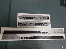 MOTOBÉCANE - kit stickers autocollants carter 50 V MOBYLETTE en argent