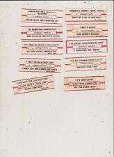 10 Used Conway Twitty Jukebox Title Strips