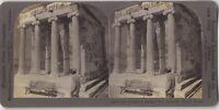 Grecia Tempio Da Nike Acropoli Atene Fotografia Vintage Stereo Stereoview
