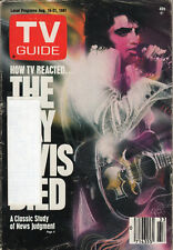 1981 TV Guide - Elvis Presley - Dennis Cole - Young and the Restless - Hemingway