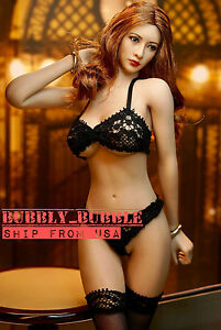 PHICEN 1/6 Seamless Figure Body Brown Hair Asian Beauty Doll Set SHIP FROM USA