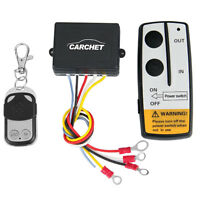 50FT 15M Wireless RC Kit 12V Winch for Truck Jeep ATV Warn Ramsey Remote-Control