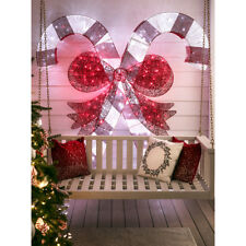 Holiday Living 7ft Freestanding Candy Cane Display with Multi-color LED Lights