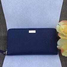 New KATE SPADE Laurel Way Neda Zip Around Wallet Clutch Purse Oceanic Blue