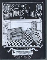 Piano Tuner's Walkaway Rag 1915 Large Format Sheet Music