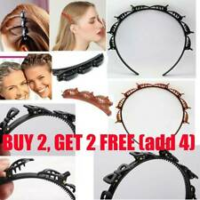 Double Bangs Hairstyle Hair Clips Bangs Hair Band Hairpin Headband with Clips #