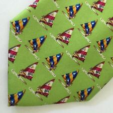 Windsurfing Green Silk Tie Nautical Surfing