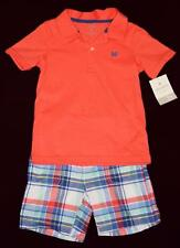NEW w/Tags Carter's Little Baby Toddler Boy Sz 3T 2-pc Shorts Top Polo Shirt Set