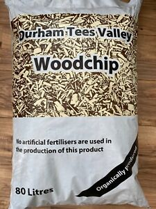 Wood chip, Bark, Garden Mulch, Organic, Huge 80L Bag with FREE NEXT DAY DELIVERY
