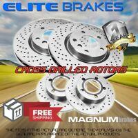 F+R Drilled Brake Rotors for (2004-2010) Mazda 3 2.0L