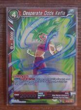 Dragon Ball Super Card - Desperate Odds Kefla - Promo Rare/ Foil