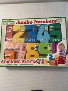 Sesame Street Jumbo Number Blocks Stacking Set Plastic Complete