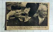 1949 Dr Theodore Heuss New President Of Western Germany And Wife Elly