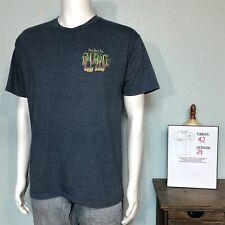 Ron Jon Surf Shop Men's LARGE Graphic T-shirt Cocoa Beach Florida Heather Blue