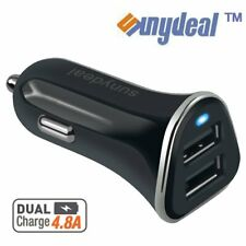 12V Dual USB Car Charger 4.8 Amp High Speed Fast For Phone iPhone Samsung HTC LG