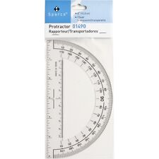 "*NEW* Sparco Protractor Clear Plastic 6"" Ruler Edge • SHIPS FAST 1st CLASS‼"