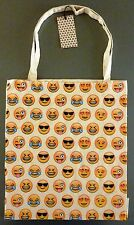 NEU PRIMARK Tasche Smiley Emoticon Icon Bag Baumwolle Shopper Jutebeutel Emoji