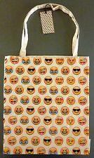NEU PRIMARK Tasche Smiley Emoticon Icon Bag Baumwolle Shopper Jutebeutel Emoji