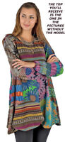 Nwt SACRED THREADS petal patch hippy knit babydoll DRESS TOP L XL Free shipping