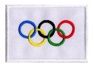 Ecusson patche drapeau patch Jeux Olympiques olympique JO 70 x 45mm à coudre