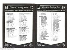 2014 Select 150 Years CARLTON FC - Check Lists (2 Cards)