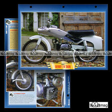 #025.07 Fiche Moto DERNY 125 T4 TAON 1957-1958 Classic Bike Motorcycle Card